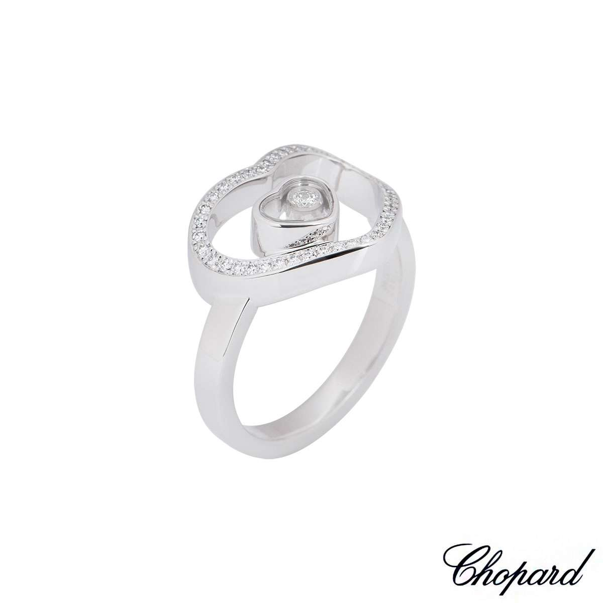 Chopard White Gold Happy Diamonds Ring
